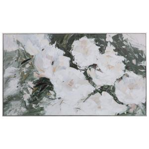 Sweetbay Magnolias - 57 inch Hand Painted Art - 57 inches wide by 2.25 inches deep