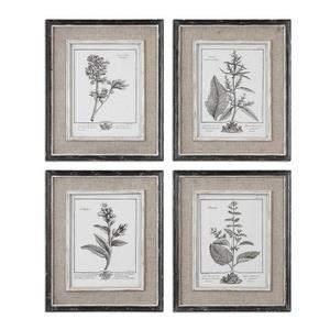 Casual Grey Study - 17.5 inch Framed Art (Set of 4)