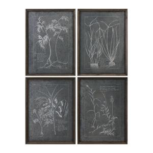 Root Study - 23.88 inch Print Art (Set of 4) - 17.88 inches wide by 1.13 inches deep