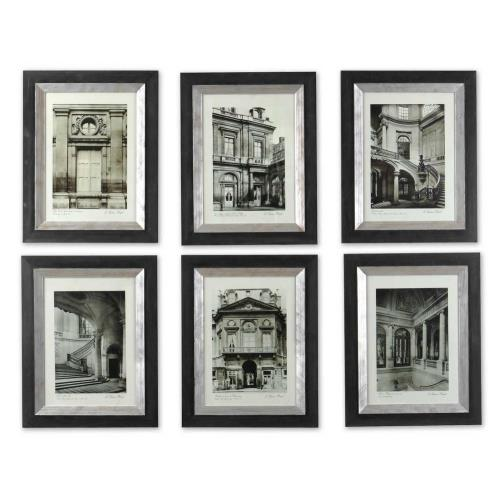 Uttermost 33430 Paris Scene - 23.63 inch Framed Art (Set of 6) - 18.63 inches wide by 1 inches deep