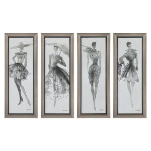 Fashion Sketchbook - 39.75 inch Wall Art (Set of 4)