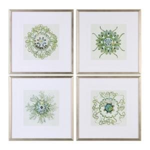 Organic Symbols - 21.38 inch Print Art (Set of 4) - 21.38 inches wide by 0.75 inches deep