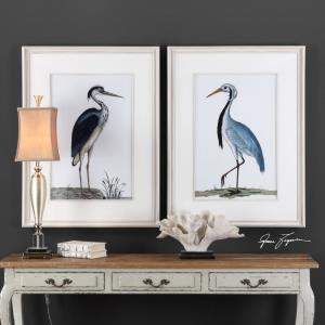 Shore Birds - 42.5 inch Framed Print (Set of 2)