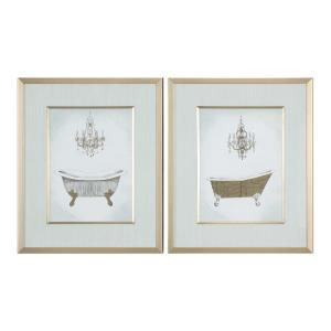 Gilded - 24.25 inch Bath Print (Set of 2) - 20.25 inches wide by 1.63 inches deep