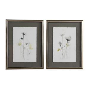 Stem Illusion - 34 inch Floral Art (Set of 2) - 26 inches wide by 1.5 inches deep