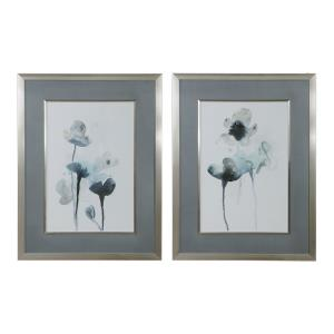 Midnight Blossoms - 35 inch Framed Print (Set of 2)