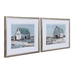 Plein Air Barns - 34.13 inch Framed Print (Set of 2)