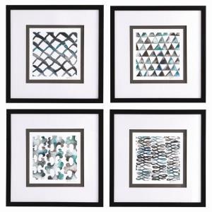 """La Mer - 21.88"""" Framed Print Art (Set of 4)"""