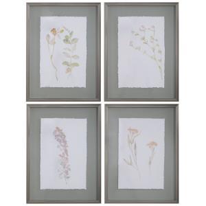 "Flourish - 24.25"" Florat Art (Set of 4)"