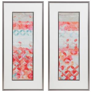 Valentine - 45.2 inch Framed Abstract Print (Set of 2)
