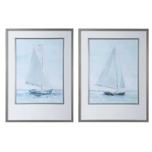Seafaring - 34.14 inch Framed Print (Set of 2)