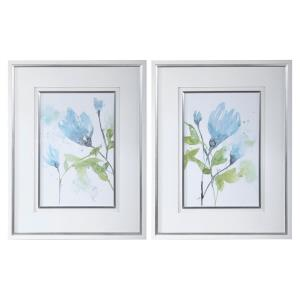 "Cerulean Splash - 36"" Floral Print (Set of 2)"