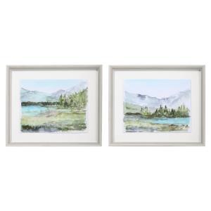 Plein Air Reservoir - 27 inch Watercolor Print (Set of 2)