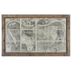 "Treasure Map - 70.88"" Tuscan/European Wall Art"