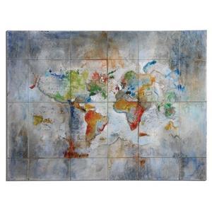 "World Of Color - 48"" Modern Wall Art"