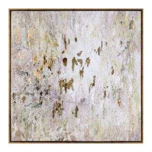 Golden Raindrops - 62 inch Modern Abstract Art