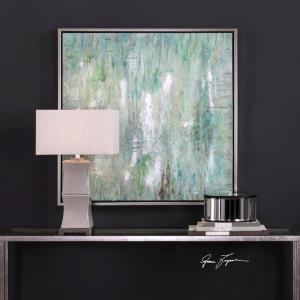 """Flowing Along - 42"""" Abstract Wall Art"""