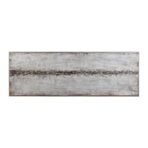 "Cracked Sidewalk - 60.75"" Abstract Art"
