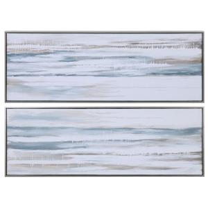 "Drifting - 48.25"" Abstract Landscape Art (Set of 2)"