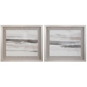 """Neutral - 29.5"""" Framed Print Art (Set of 2)"""
