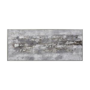 Weathered Stone - 73.75 inch Hand Painted Canvas