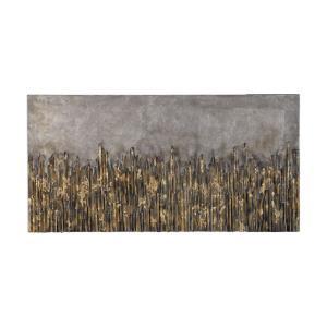"""Golden Fields - 56"""" Metallic Art"""