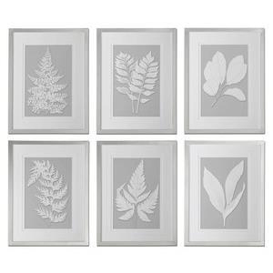 """Moonlight Ferns - 25.625"""" Floral Wall Art (Set of 6)"""