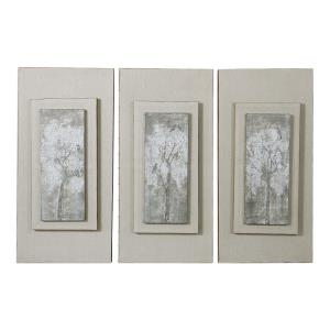 Triptych Trees - 35.75 inch Hand Painted Art (Set of 3)