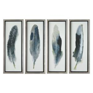 "Feathered Beauty - 38"" Decorative Wall Art (Set of 4)"