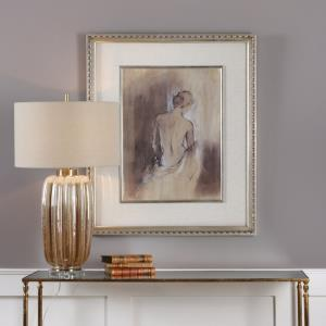 "Contemporary Draped Figure - 35.625"" Feminine Wall Art"