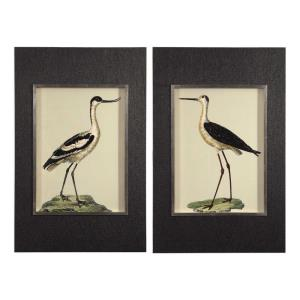 "Birds On The Shore - 44.5"" Print Art (Set of 2)"