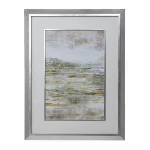 "Beyond The Land - 52.13"" Framed Print Art"