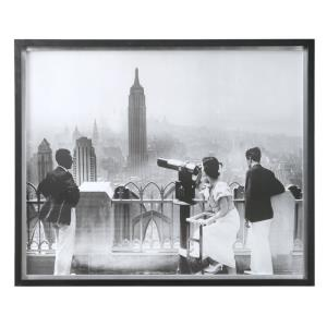 "Manhattan View - 42.75"" Vintage Print"
