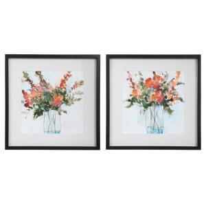Fresh Flowers - 26.25 inch Watercolor Print (Set of 2)
