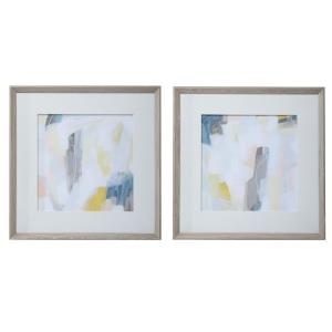 Fractal Pastel - 30.25 inch Abstract Art (Set of 2)