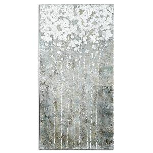 "Cotton Florals - 55"" Landscape Wall Art"