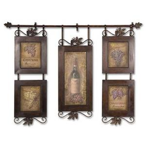 Hanging Wine - 52.5 inch Framed Art