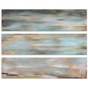 Horizon View - 48 inch Hand Painted Panel (Set of 3)