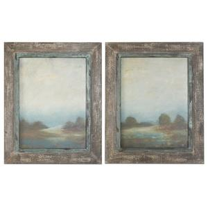 Morning Vistas - 31.13 inch Framed Art (Set of 2)