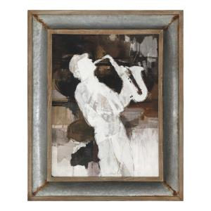 Jazz Sax - 41.88 inch Framed Art