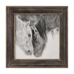 Custom Black And White Horses - 31.5 inch Horse Print