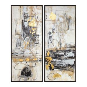Life Scenes - 51 inch Abstract Art (Set of 2)