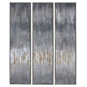 Gray - 61 inch Hand Painted Canvas (Set of 3)