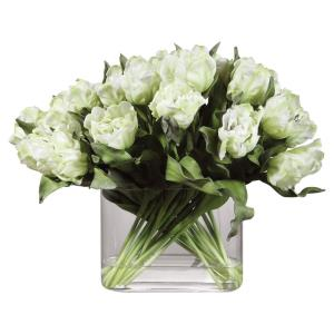 Kimbry - 27 inch Tulip Centerpiece - 27 inches wide by 16 inches deep