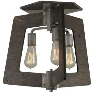 Lofty - Three Light Semi-Flush Mount