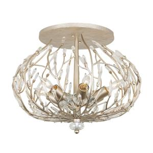 Bask - Six Light Semi-Flush Mount
