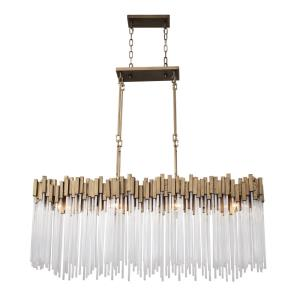 Matrix - Eight Light Linear Pendant