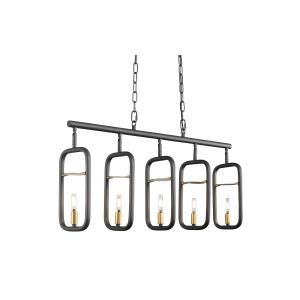 Bar None - Five Light Linear Pendant