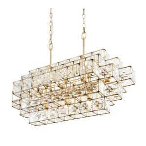 Cubic - Fourteen Light Linear Pendant