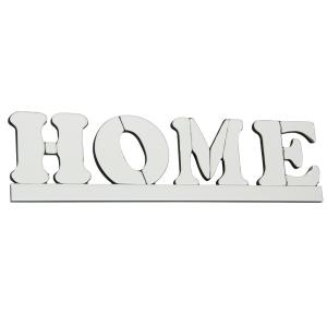 "Home - 23.6"" Mirrored Wall Art"